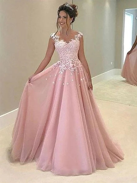Tulle and Lace Prom Dresses Formal Dresses Wedding Party Dresses MPD363