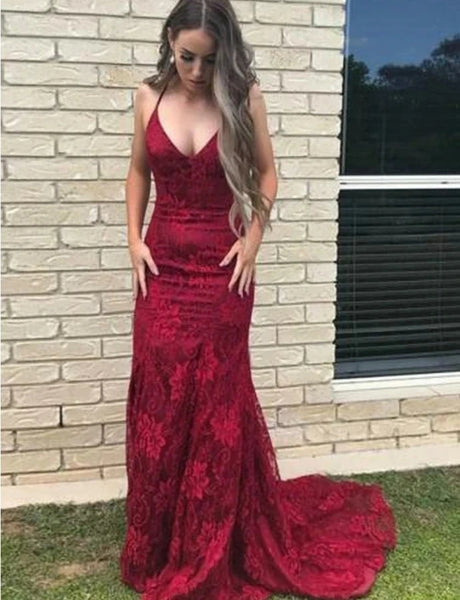 Lace Prom Dresses Formal Dresses Wedding Party Dresses MPD376