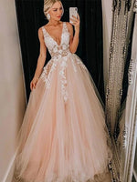 Tulle and Lace Prom Dresses Formal Dresses Wedding Party Dresses MPD395