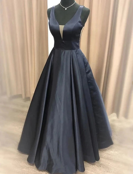 A Line Black Formal Dresses Prom Dresses Wedding Party Dresses MPD408