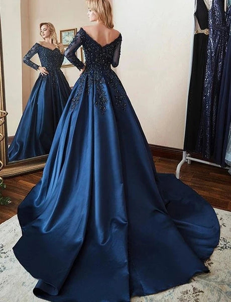 Satin Prom Dresses Banquet Gowns Evening Gowns MPD412