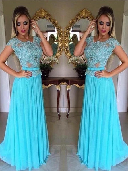 Tulle and Chiffon Banquet Gowns Evening Gowns Prom Dresses MPD446