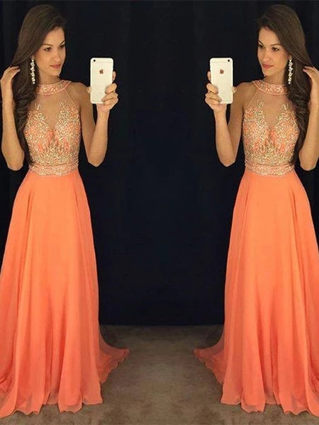 Halter Prom Dresses Banquet Gowns Evening Gowns MPD452