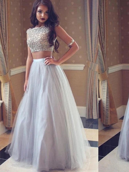 Two Pieces Prom Dresses Banquet Gowns Evening Gowns MPD457