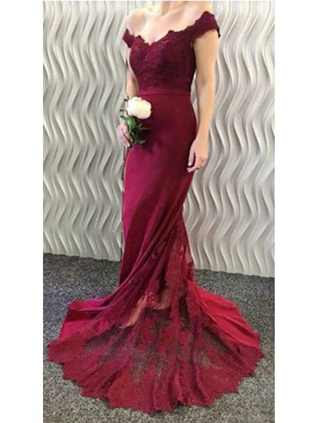 Mermaid Lace Prom Dresses Banquet Gowns Evening Gowns MPD459