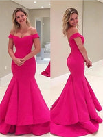 Mermaid Off the Shoulder Prom Dresses Banquet Gowns Evening Gowns MPD463