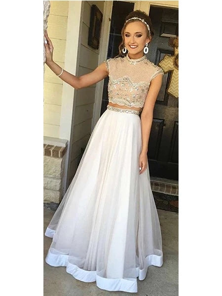 Two Pieces Prom Dresses Banquet Gowns Evening Gowns MPD465
