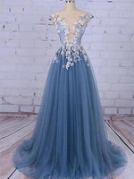 Tulle and Lace Prom Dresses Banquet Gowns Evening Gowns MPD899