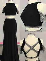 Two Pieces Off the Shoulder Prom Dresses Banquet Gowns Evening Gowns MPD900