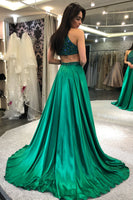 Halter Beaded Prom Dresses Formal Dresses Banquet Dresses MPD121