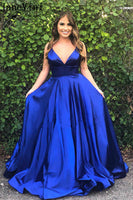 Satin Prom Dresses Formal Dresses Evening Dresses with Spaghetti Straps MPD136