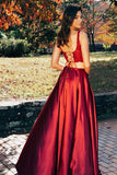 Lace and Satin Two-Piece Prom Dresses Banquet Gowns Formal Dresses MPD144