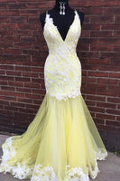 Lace and Tulle Mermaid Prom Dresses Banquet Gowns Evening Gowns MPD152
