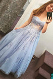 Lace and Tulle Prom Dresses Banquet Gowns Evening Gowns MPD156