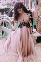 Applique Prom Dresses FBanquet Gowns Evening Gowns with Long Sleeves MPD161