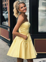 Satin Homecoming Dresses Sweet 16 Dresses MPD189
