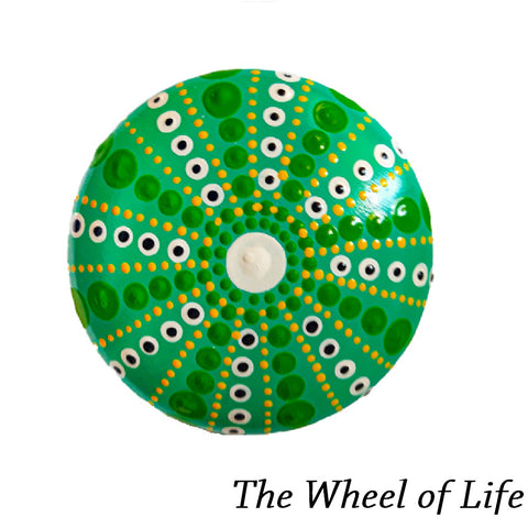 Mandale pictate manual pe piatra -Model The Wheel of Life