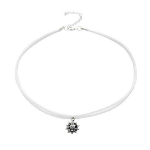 Choker argintiu Sunflower