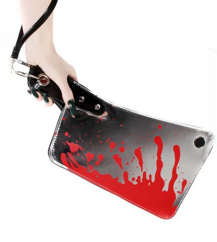 Kreepsville 666 Cleaver Clutch Bag Metallic