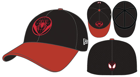 SPIDER-MAN MILES MORALES BLACK & RED FLEXFIT CAP