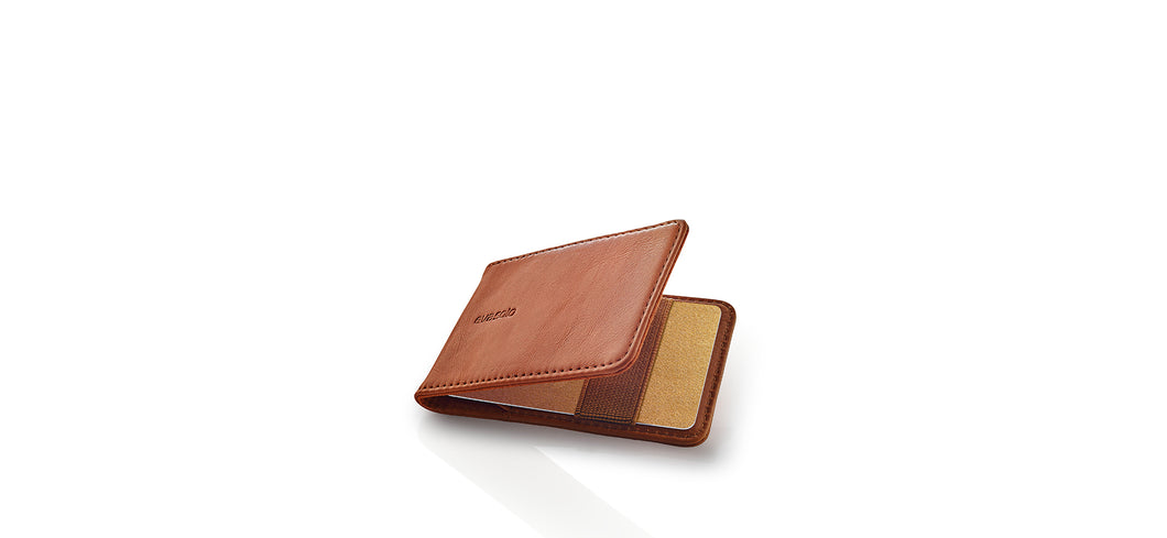 Credit card holder cognac