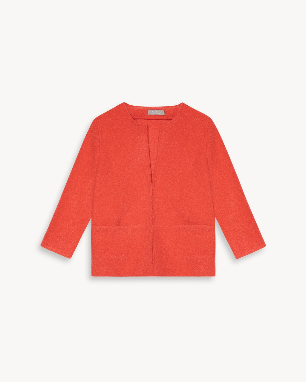 variant_1 | EN Women Cardigan Jacket 3/4 Arm Elegant Red Orange | DE Damen Cardigan Jacke Elegant 3/4 Arm Rot Orange