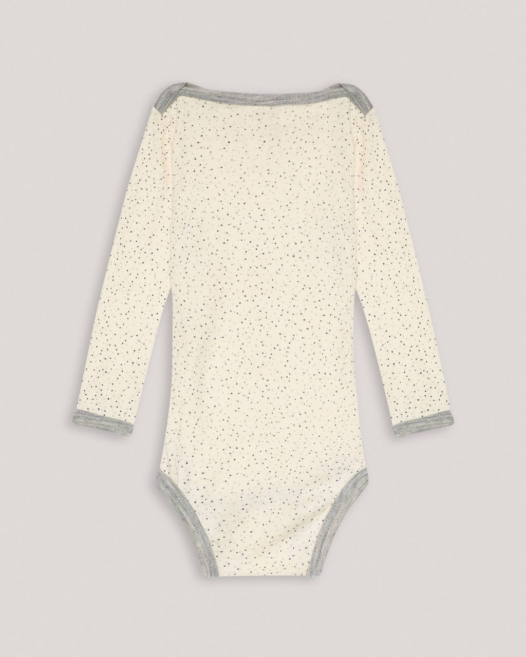 variant_2 | EN Nature White Baby Longsleeve Body with Dots ENGEL | DE Naturweißer Baby Langarmbody Body mit Punkten ENGEL