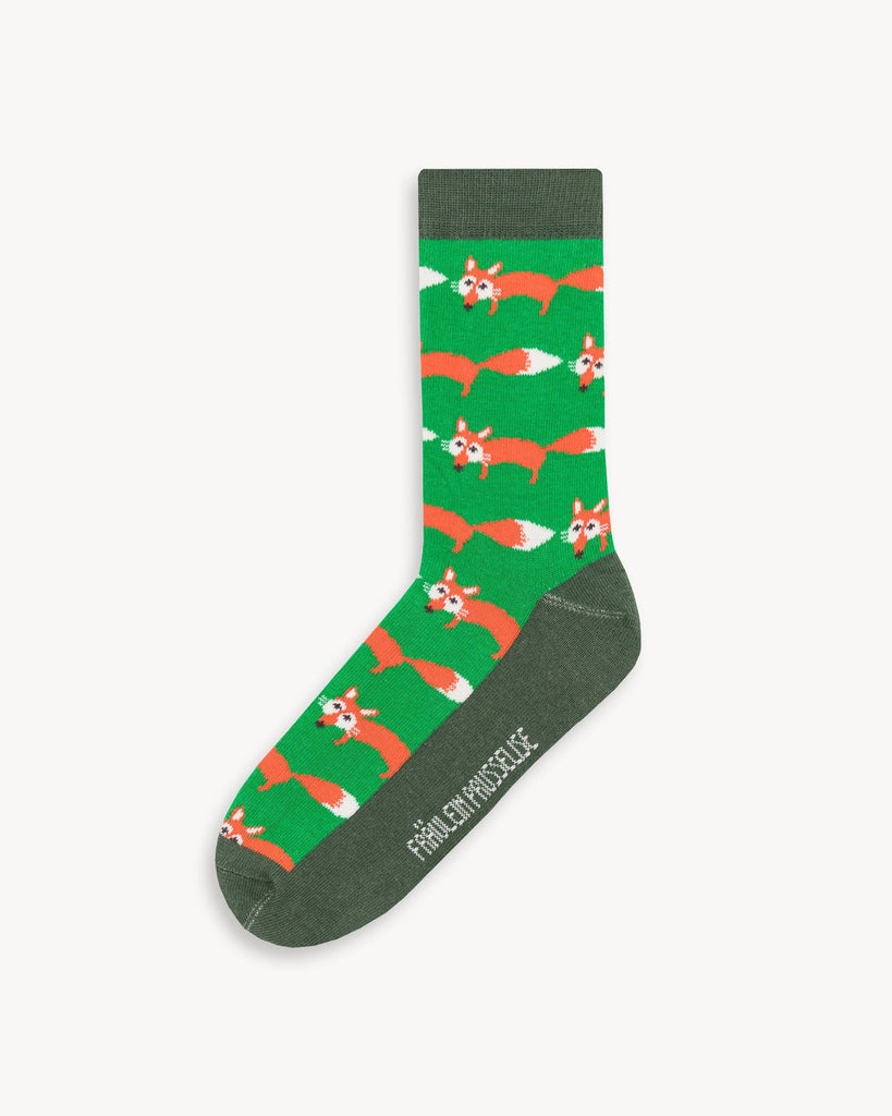 Green Socks with Print Women