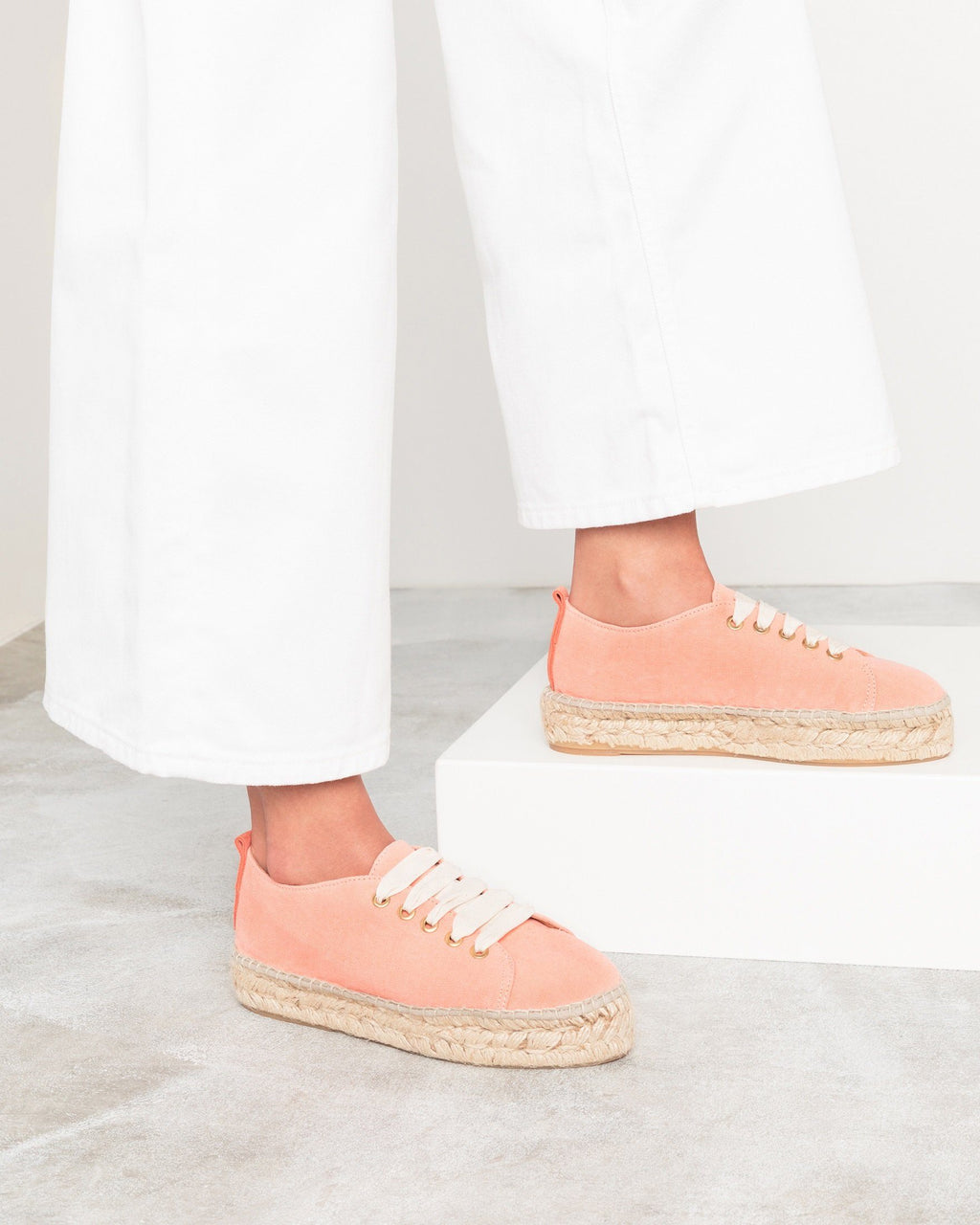 variant_1 | EN Nude Orange Espadrilles Low Sneakers Women JUTELAUNE | DE Nude Orange Espadrilles Low Sneakers Damen JUTELAUNE