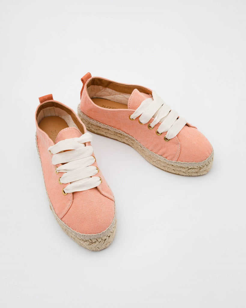 Nude Orange Espadrilles Low Sneakers Damen JUTELAUNE