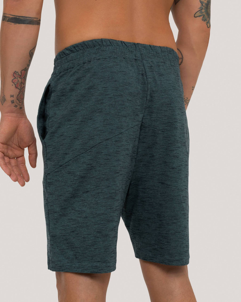 variant_1 | EN Green Yoga Sport Shorts Men | DE Grüne Loungewear Yoga Sport Shorts Herren