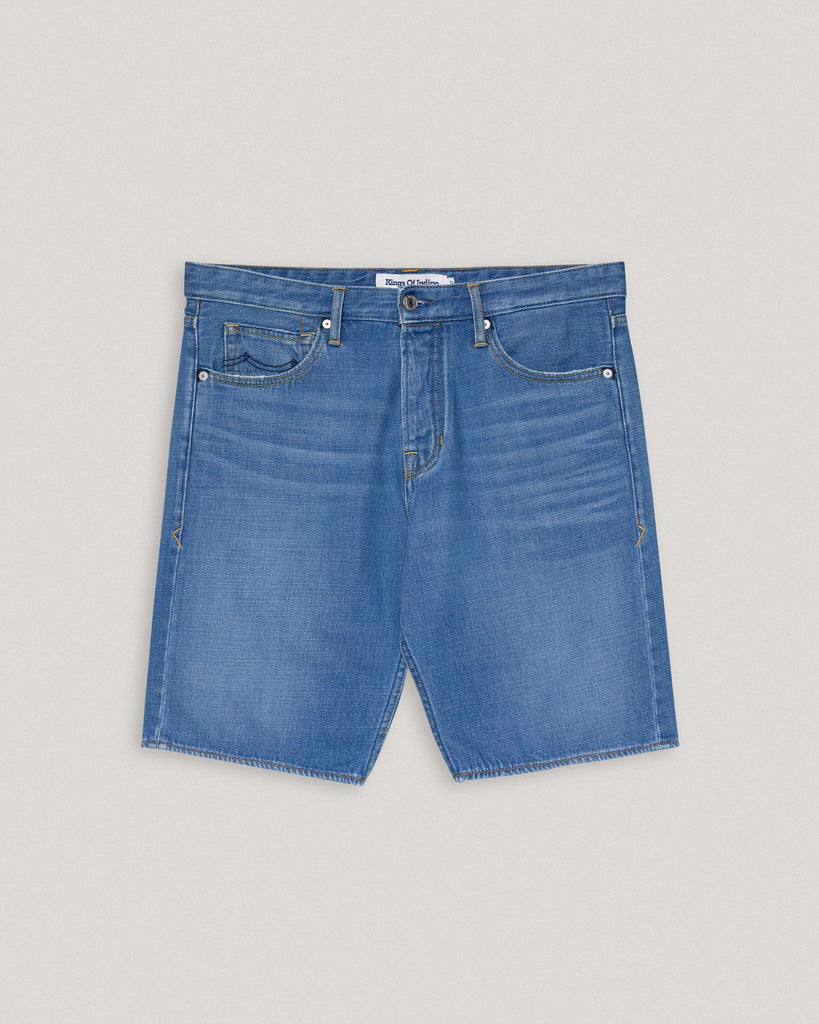 Blaue Bermuda Jeans Shorts Herren Kings of Indigo
