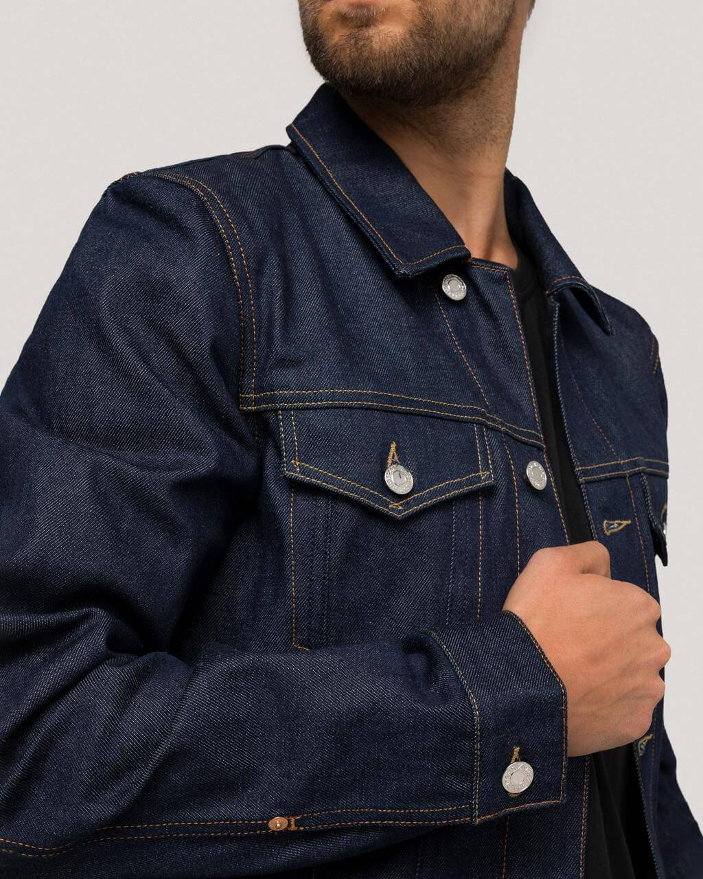 variant_1 | EN Blue Jacket Denim Jeans Men Kings of Indigo | DE Blaue Jeansjacke Herren Kings of Indigo