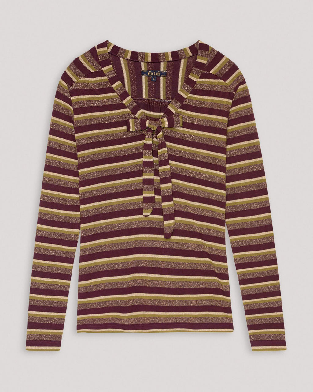 variant_1 | EN Brown Longsleeve shirt with stripes Women | DE Braunes Langarmshirt gestreift Damen