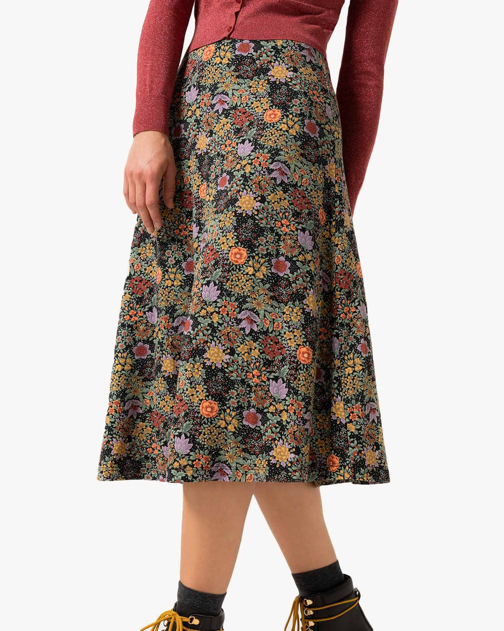 variant_2 | EN Colorful printed flowers Skirt Women | DE Bunter Rock mit print blumen Damen