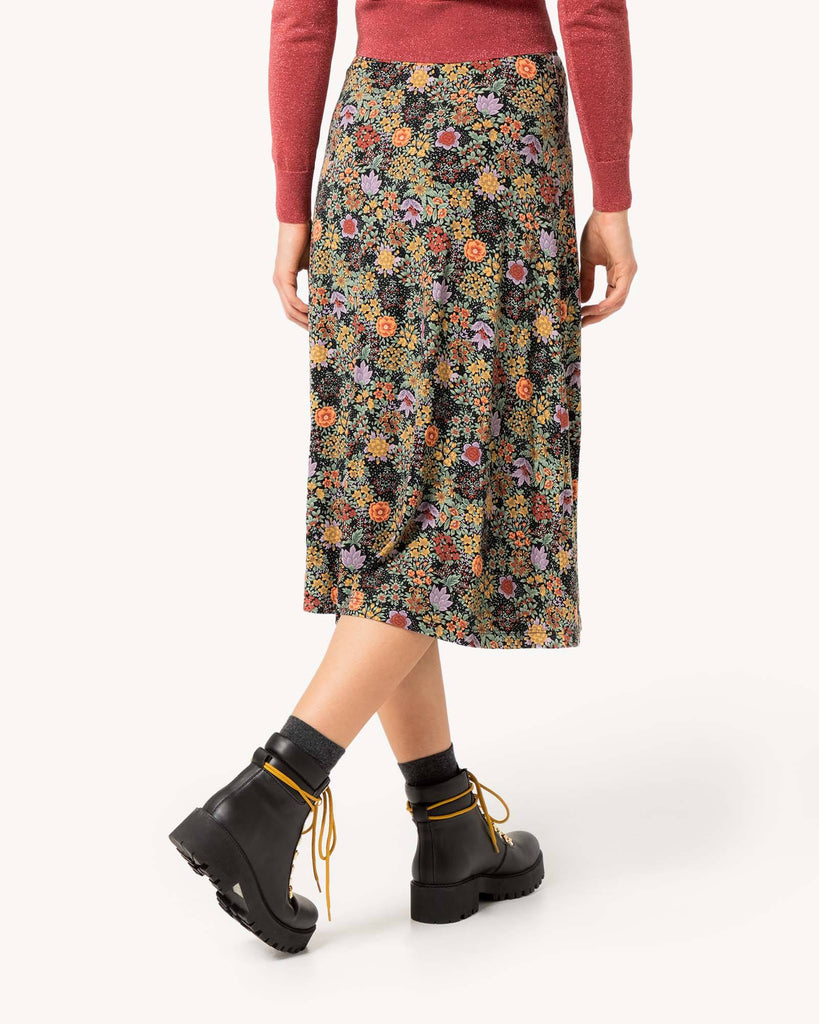 Bunter Rock mit print blumen Damen