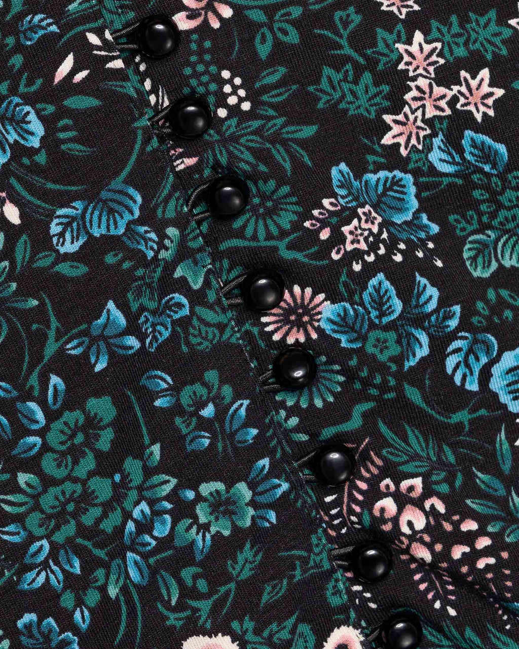variant_1 | EN Black with Flowers Dress woman with flowers | DE Schwarzes Kleid Damen mit Blumenmuster