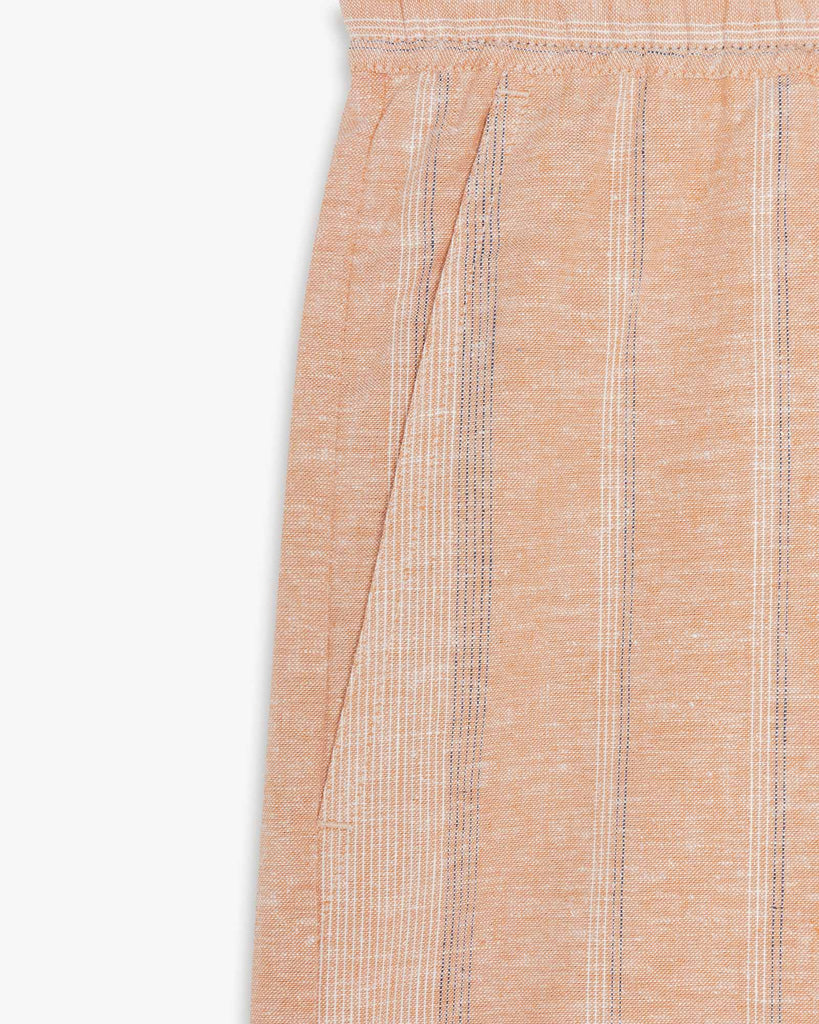 Shorts Beige with Stripes Women LANIUS