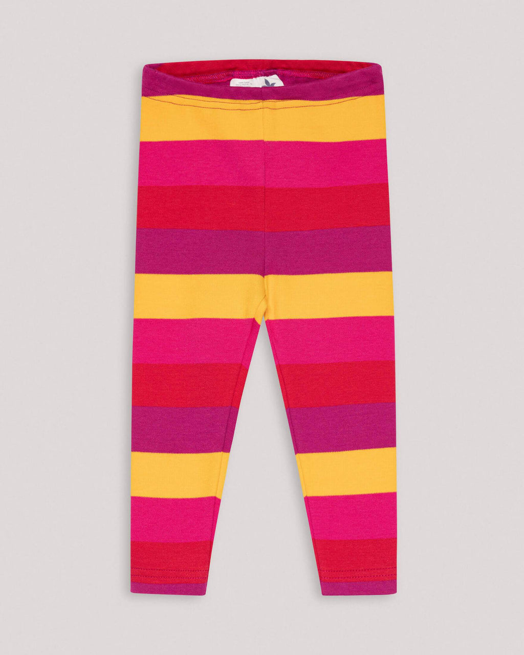 variant_3 | EN Red Yellow striped basic Leggings for kids and babies  | DE Rote gelbe gestreifte Leggings für kinder und babies