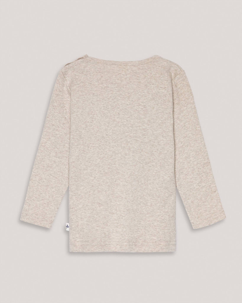 Organic Beige Creme basic longsleeve sweater for babies and kids