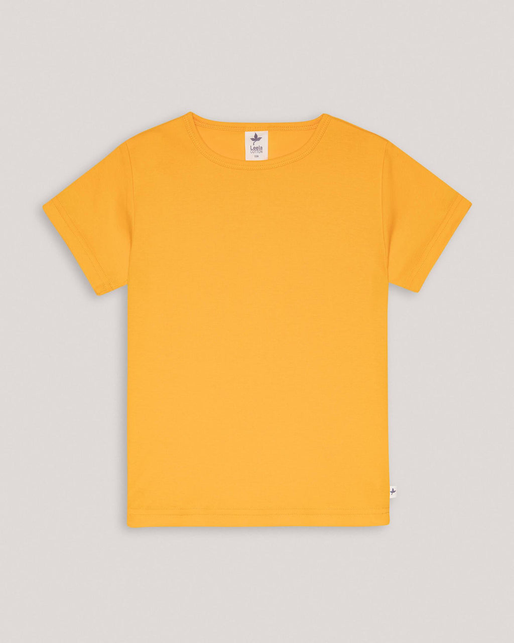 variant_1 | EN Organic Yellow basic Tshirt for kids | DE Bio gelbes tshirt für kids basics