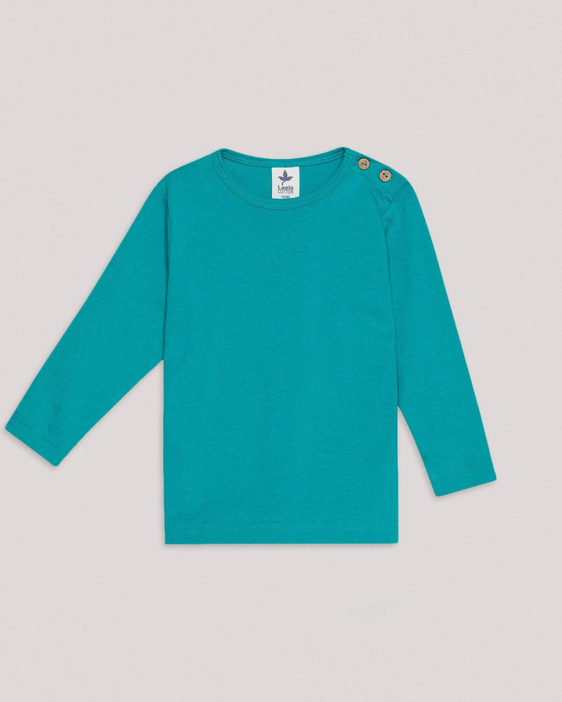 Organic Green basic longsleeve sweater for babies and kids