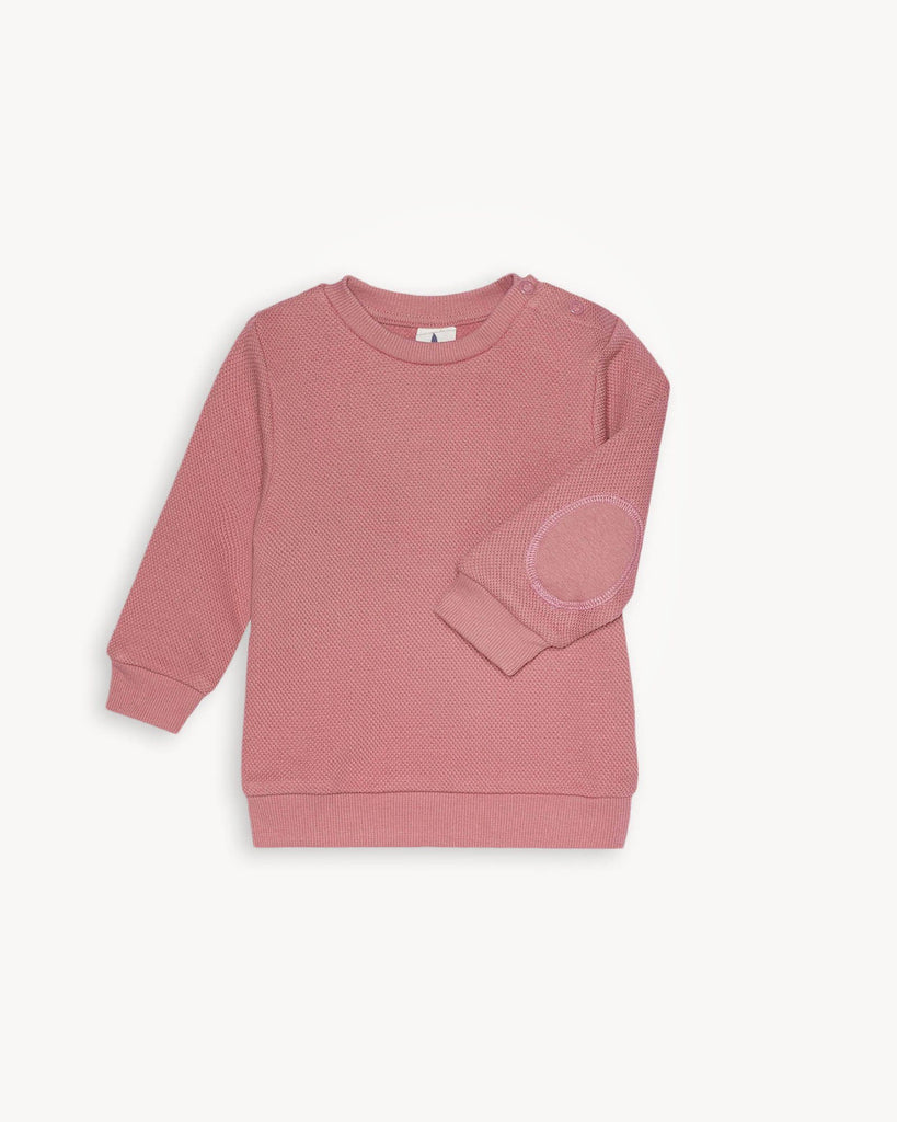 Rosa Pink Pique Sweatshirt for Baby und Kinder