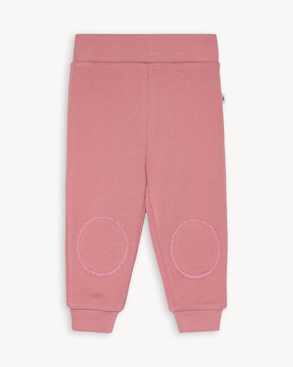 variant_1 | EN Dusty Rose Pink Sweatpants for Kids and Baby with pads on knees | DE Rosa Pink Hose mit Patches am Knie für Baby und Kinder
