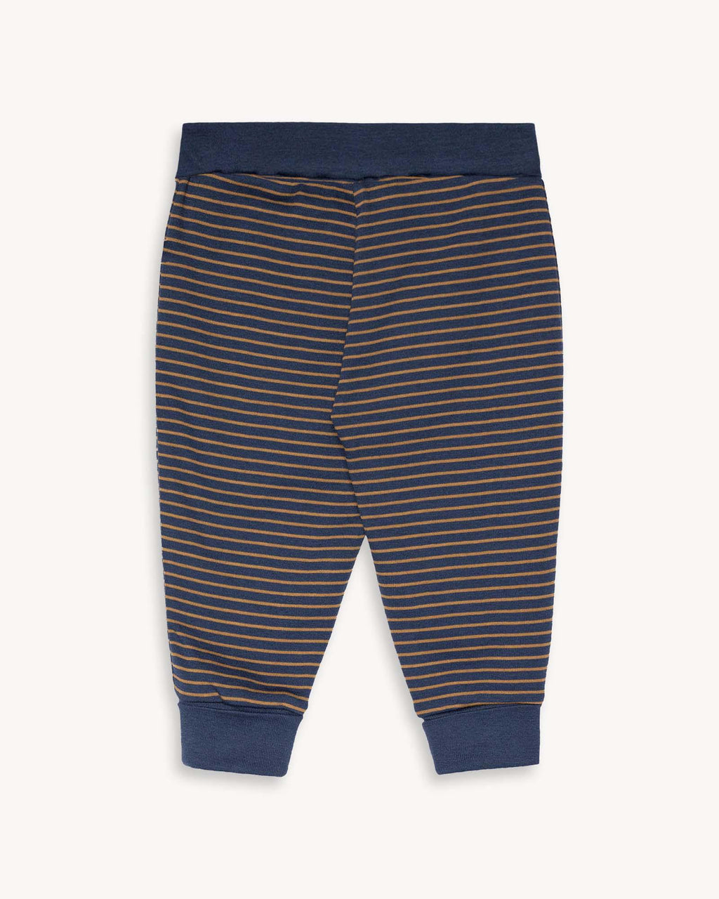variant_1 | EN Brown Blue Baggy Kids Pants Trouser  with pads on the knees | DE Braun gestreifte Hose für Babies und Kinder mit Patches am Knie
