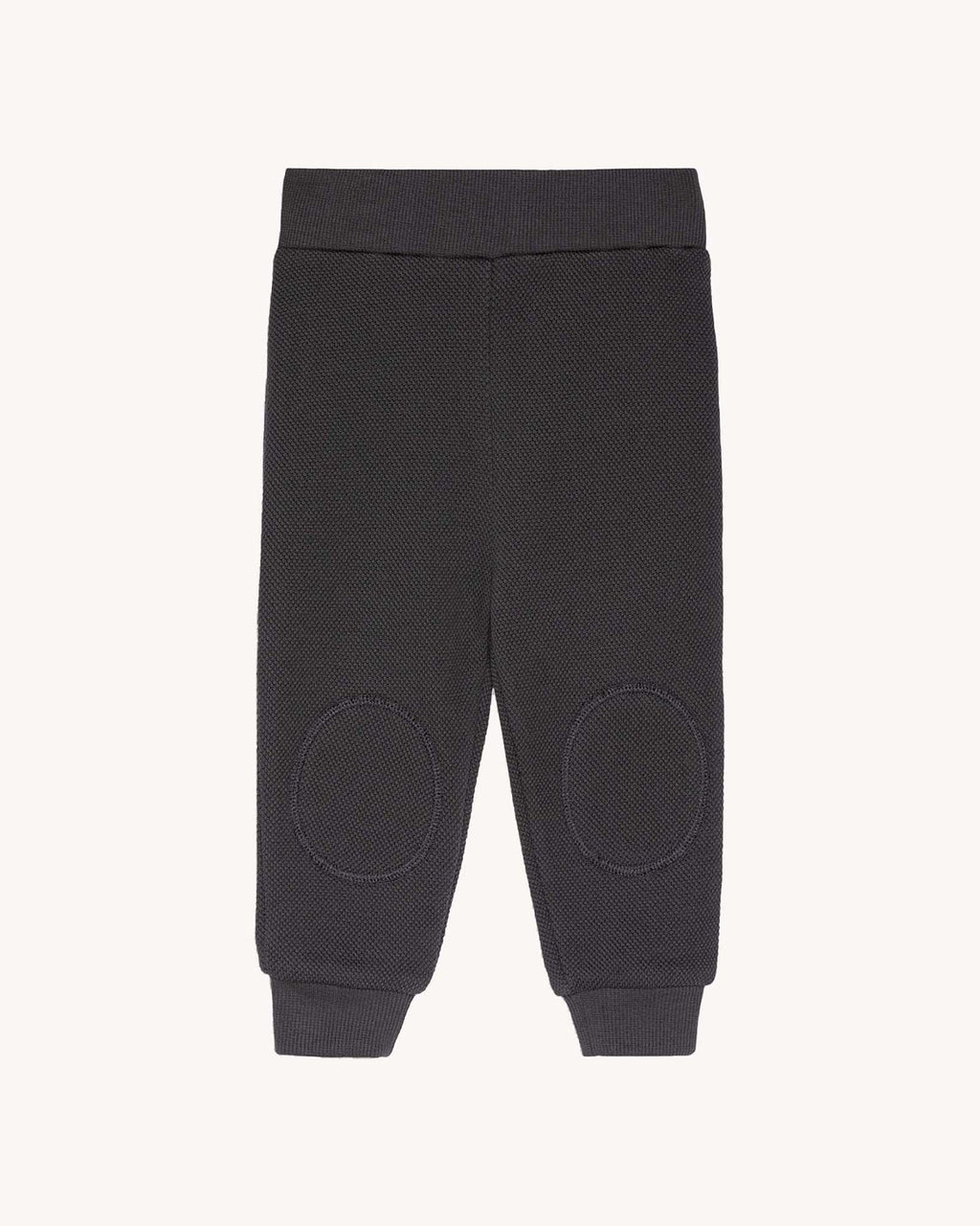 variant_2 | EN Dark Grey Sweatpants for Kids and Baby with pads on knees | DE  Dunkle Grau Anthrazit Hose mit Patches am Knie für Baby und Kinder