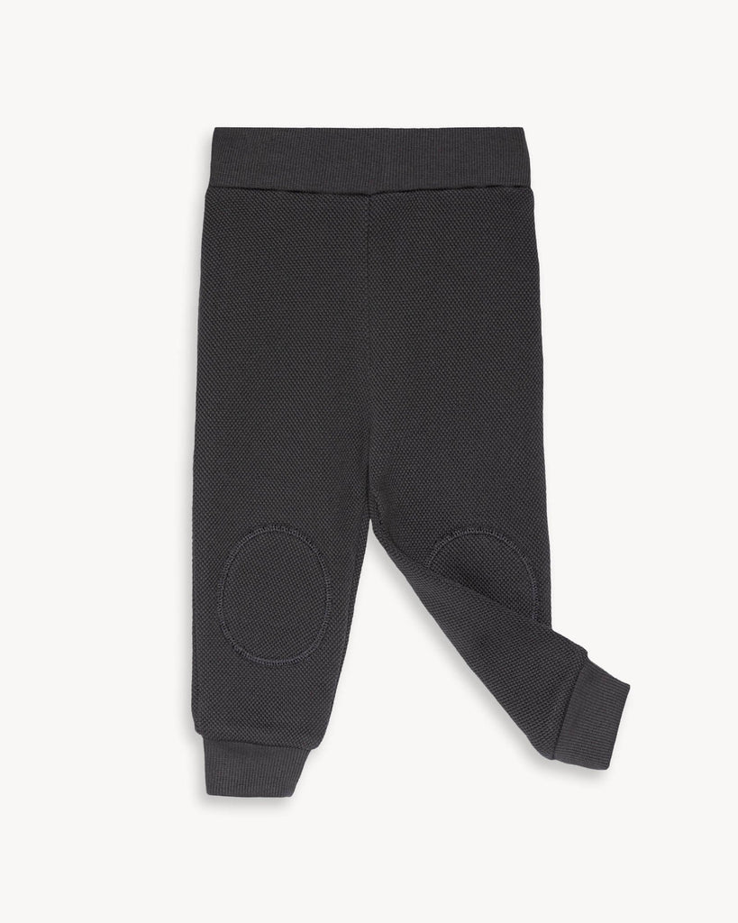Dark Grey Sweatpants for Kids and Baby with pads on knees