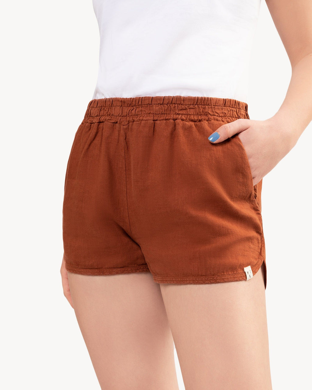 variant_1 | EN Shorts Red Brown Women MATONA | DE Shorts kurze Hose Rot Braun Damen MATONA
