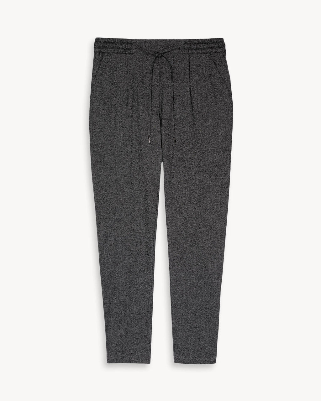 variant_1 | EN Trousers Women with elastic waistband black anthracite | DE Damen Hose mit Gummibund schwarz anthrazit melange
