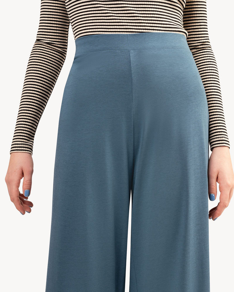Pants Summer Blue Wide Leg Women Madness